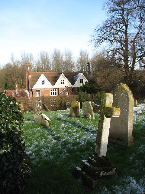 The churchyard of St Mary & St Walstan church