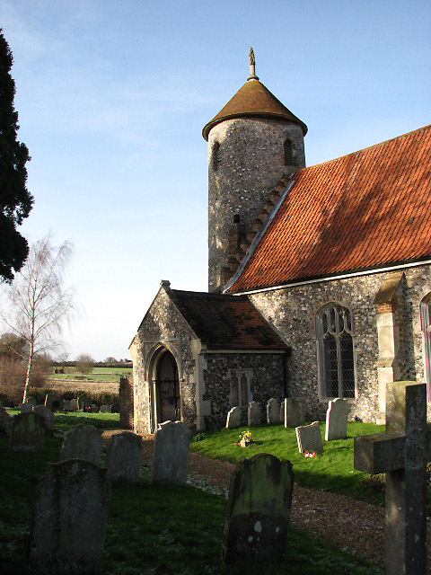 The church of St Mary & St Walstan
