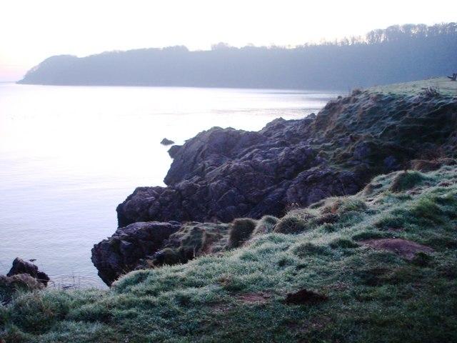 Frosty coastline - Elberry Cove
