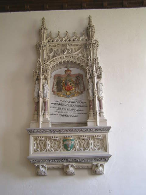 Monument to Baroness Willoughby De Eresby