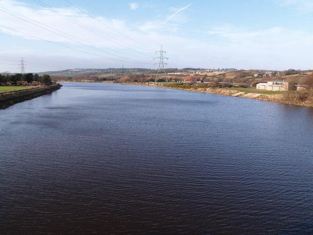 The Tyne from Newburn Bridge looking upstream