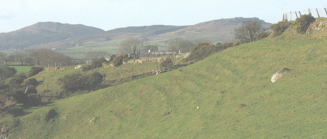 Solifluction terraces on the slope above Afon Erch