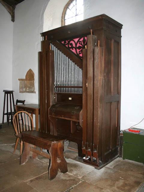 The organ in Eastwell church
