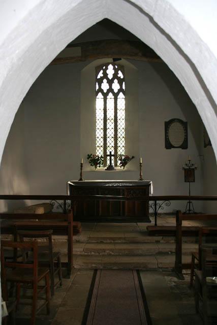 The chancel, Eastwell church