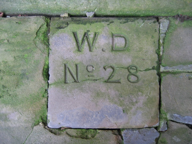 War Department boundary stone at Chester Castle - No 28