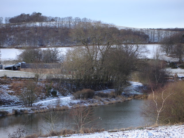 overlooking the pond created on the Combe Burn towards Mill of Laithers