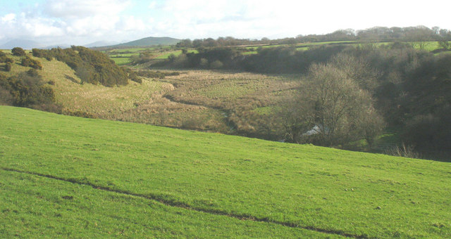 View across the Erch valley from Carnguwch church