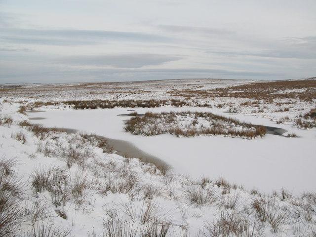 Frozen lough near Crawberry Hill