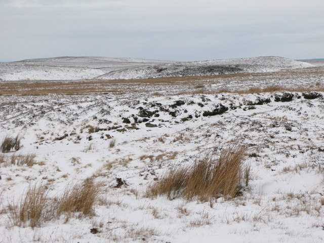 Towards the snowy Foumart Hills and Great Lawsley