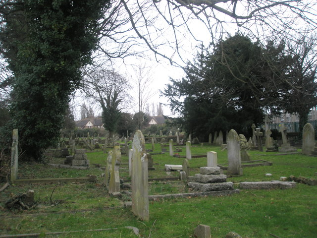 Cemetery opposite St Peter and St Paul's