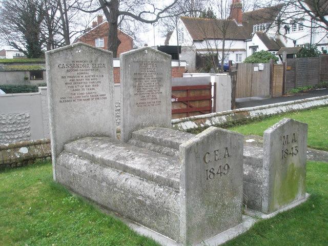 Gravestones of Jane Austen's family