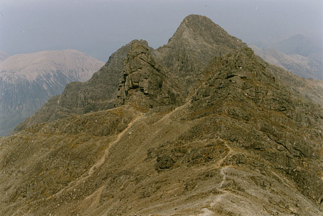 The Cuillin ridge east of Bruach na Frithe