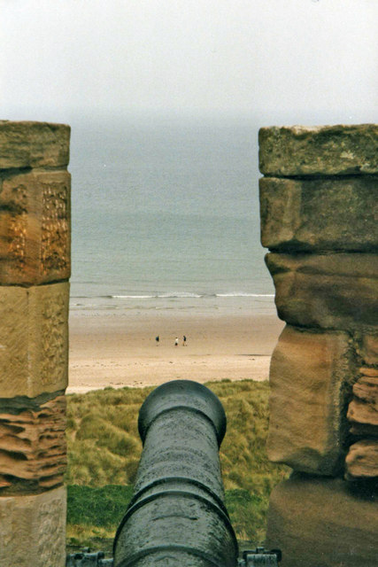 Bamburgh Beach from Castle, Northumberland