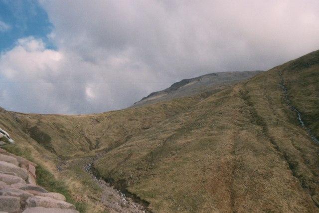 Tourist path to Ben Nevis summit