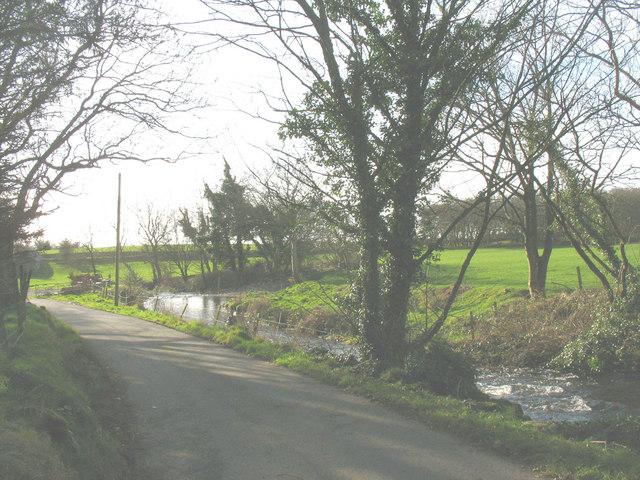 Afon Erch above Llwyndyrys bridge