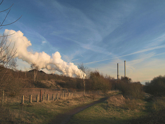 Steam release from Monckton Coking Works