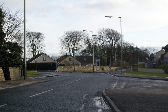 Road Junction at Hillside