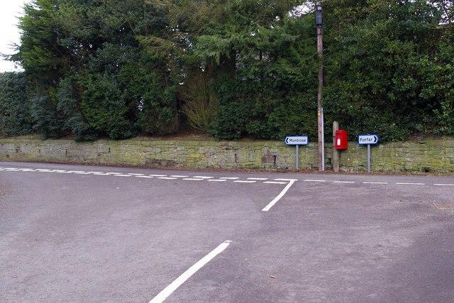 Road Junction at Barnhead, Montrose