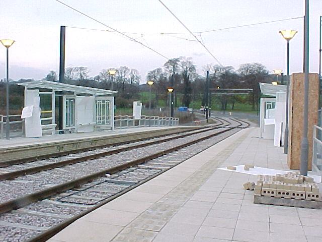 Addington Village Tram Stop - under construction