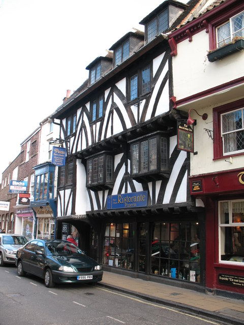 Half timbered buildings in Goodramgate