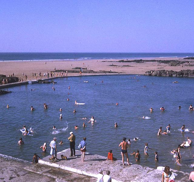 Summerleaze tidal swimming pool and beach