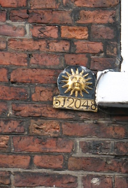 Old fire insurance plaque, High Petergate