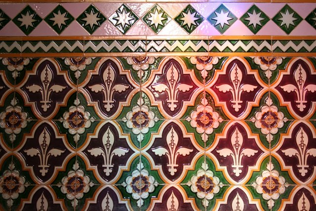 Chancel tiles detail