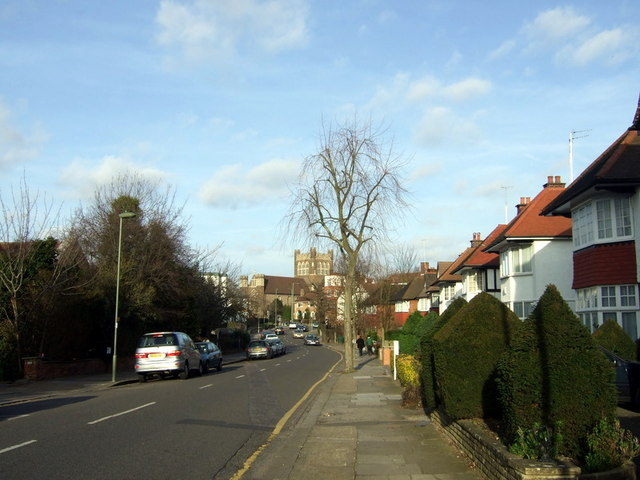 Looking down Hoop Lane
