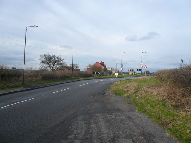 B6043 Junction with A619 at Whitwell Common