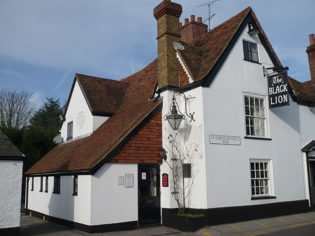 The Black Lion pub, Lynsted Lane