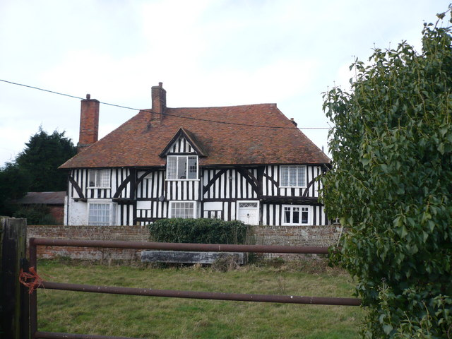 Claxfield Farm house, taken from Claxfield Road, near the junction with the A2