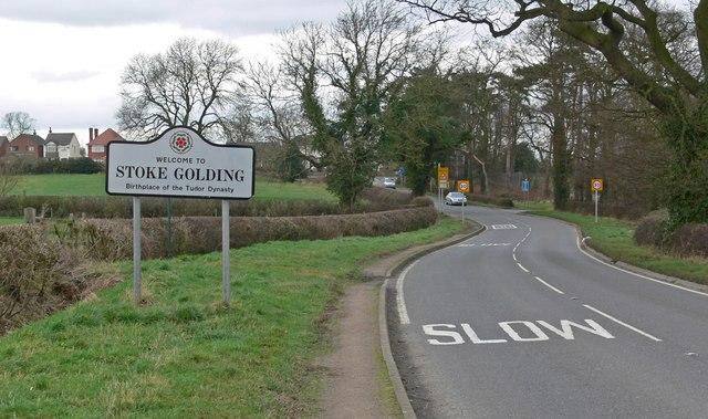 Stoke Road enters Stoke Golding