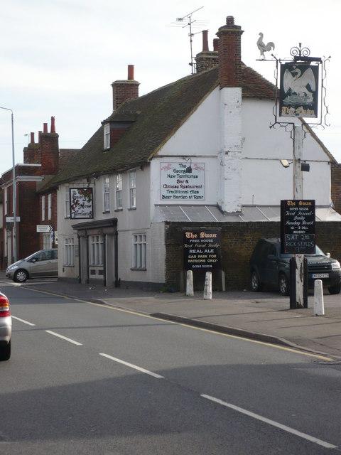 The Swan, Teynham, on the London Road