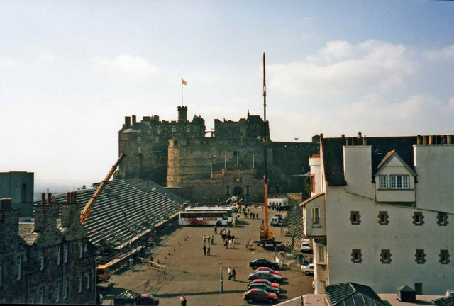 Looking west towards Edinburgh Castle from the Camera Obscura, Edinburgh, Scotland