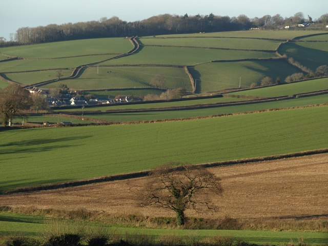 Colley Brook valley at Ideford