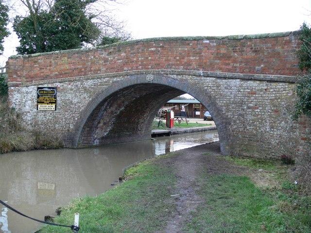 Wharf Bridge along the Ashby Canal