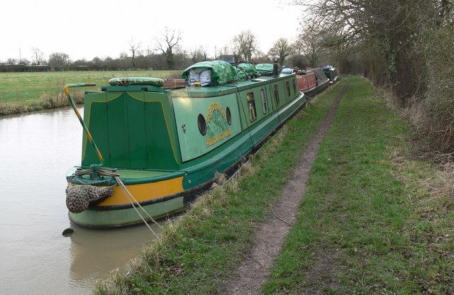 Moorings along the Ashby Canal
