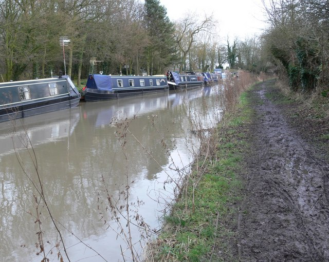 A very muddy Ashby Canal towpath
