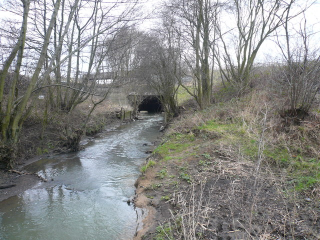 Avenue Washlands - River Rother passes through Tunnel