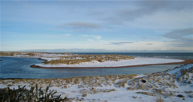 A winter's day at the mouth of the river Ythan