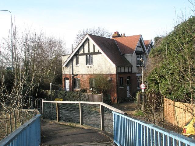 House at bottom of A27 Road Bridge