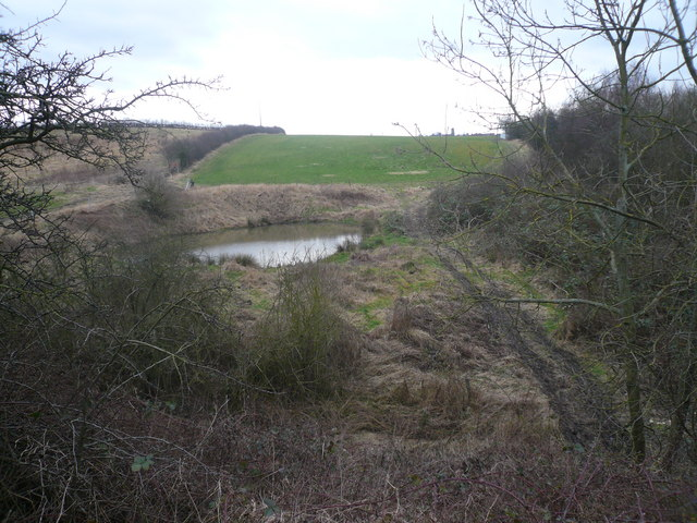 Pond viewed from bridge at the bottom of Hagg Hill