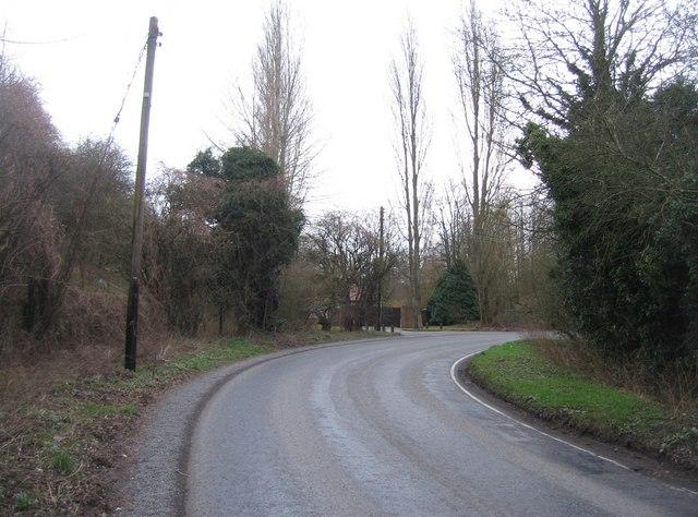 Sharp turn in Basing Road