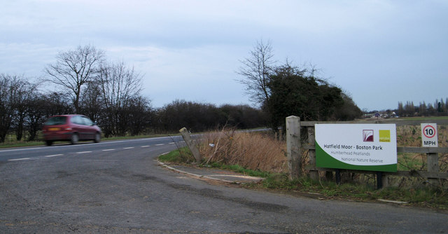 Entrance to Hatfield Moor - Boston Park nature reserve