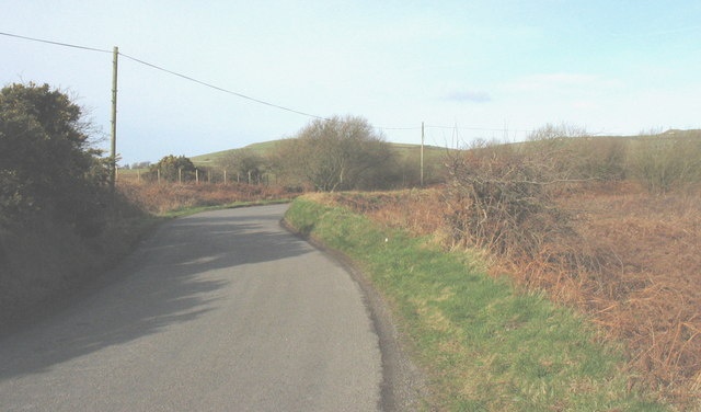 Bends in the Llithfaen road