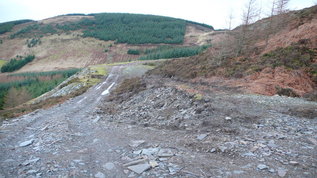 Track leaving slate quarry