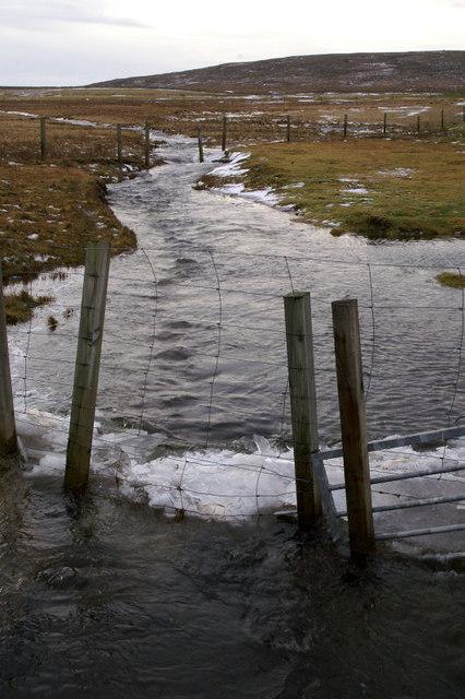 Burn of Ordale in flood