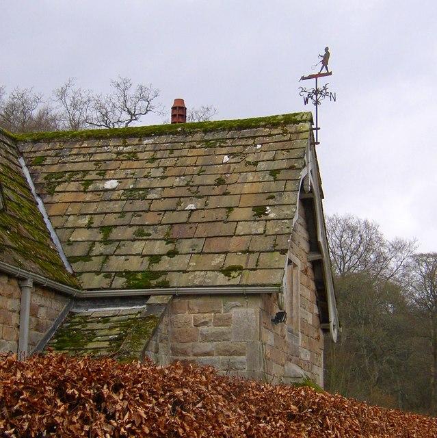 Weathervane on the lodge, Cavendish Pavilion, Bolton Abbey