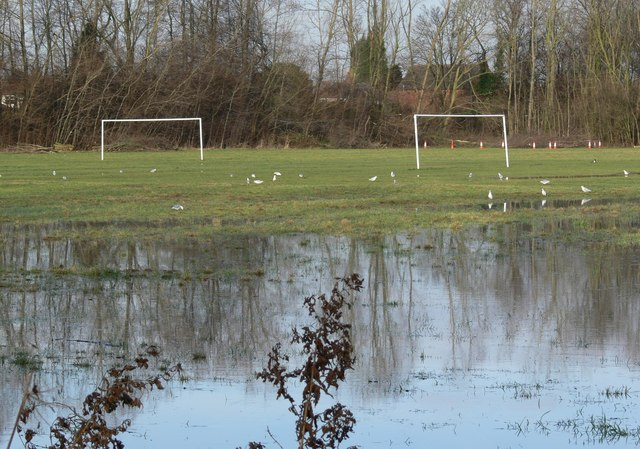 Flooded Aylestone Playing Fields
