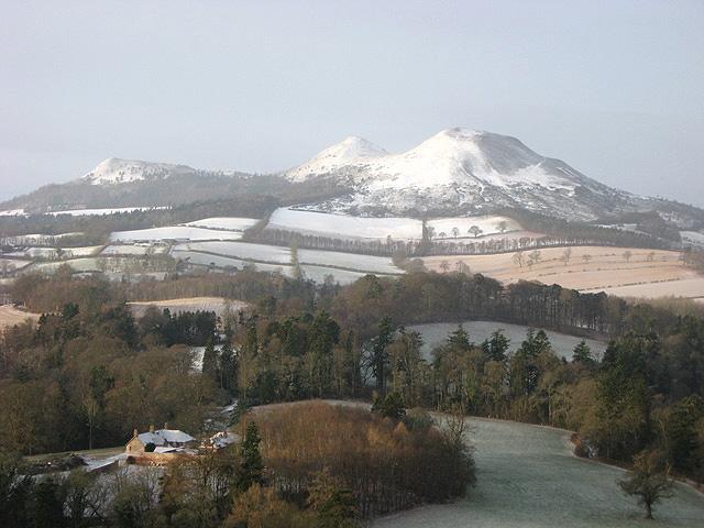Old Melrose in winter